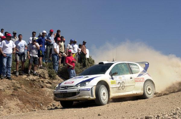 2001 World Rally Championship.Acropolis Rally June 14-17, 2001.Gillles Panizzi on stage 7.Photo: Ralph Hardwick/LAT