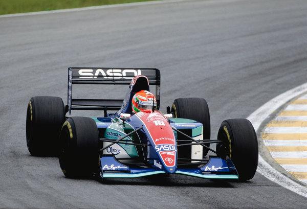 1994 Brazilian Grand Prix.Interlagos, Sao Paulo, Brazil. 25-27 March 1994.Eddie Irvine (Jordan 194 Hart).Ref-94 BRA 43.World Copyright - LAT Photographic