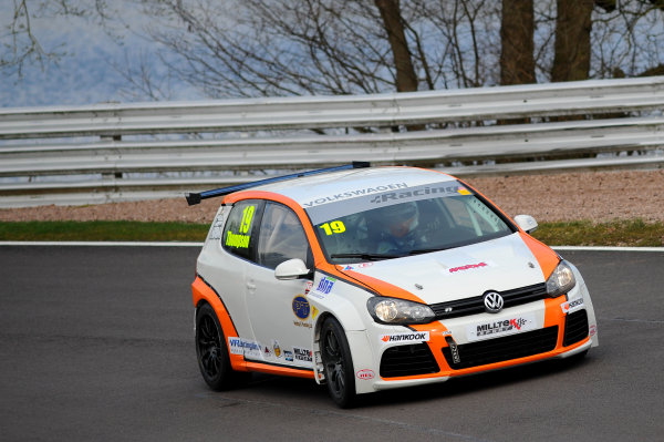 2015 Volkswagen Racing Cup, Oulton Park, Cheshire. 4th - 6th April 2015. Bobby Thompson (GBR) Team HARD Golf GTI. World Copyright: Ebrey / LAT Photographic.