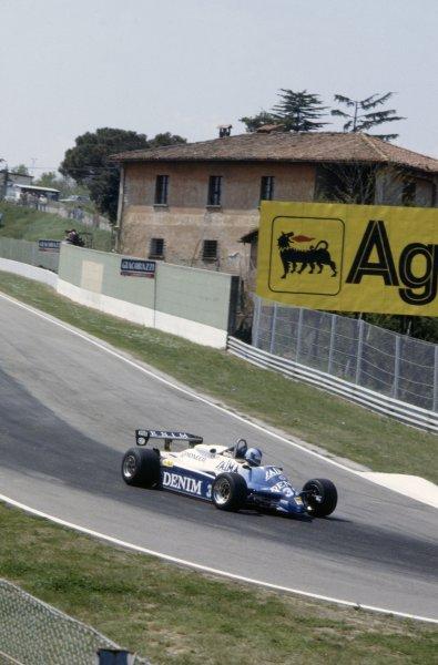 1982 San Marino Grand Prix.Imola, Italy. 23-25 April 1982.Riccardo Paletti (Osella FA1C-Ford Cosworth), retired.World Copyright: LAT PhotographicRef: 35mm transparency 82SM29