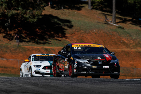 28-30 September, 2016, Braselton, Georgia,  USA , 93, Honda, Civic Si, ST, Chad Gilsinger, Cameron Lawrence, 15, Ford, Shelby GT350R-C, GS, Scott Maxwell, Billy Johnson ?2016, Michael L. Levitt LAT Photo USA