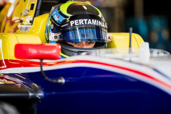 2017 GP3 Series Test 4.  Hungaroring, Budapest, Hungary. Tuesday 6 June 2017. Ryan Tveter (USA, Trident)  Photo: Zak Mauger/GP3 Series Media Service. ref: Digital Image _54I2212