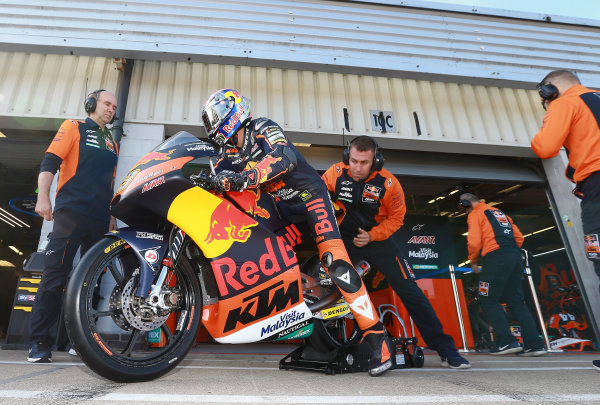 2017 Moto3 Championship - Round 12 Silverstone, Northamptonshire, UK. Friday 25 August 2017 Niccolo Antoneli, Red Bull KTM Ajo World Copyright: Gold and Goose / LAT Images ref: Digital Image 688457