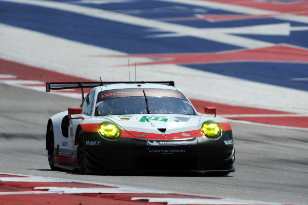 2017 FIA World Endurance Championship, COTA, Austin, Texas, USA. 14th-16th September 2017, #91 Porsche GT Team Porsche 911 RSR: Richard Lietz, Frederic Makowiecki  World Copyright. May/JEP/LAT Images