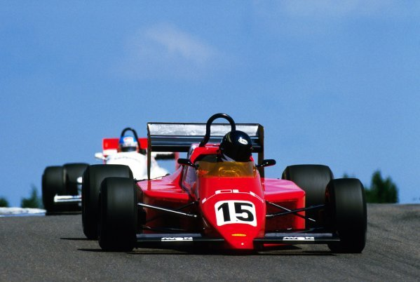 Johnny Dumfries (GBR) Lola T950 finished the race in tenth position.European Formula 3000 Championship, Rd 7, Dijon-Prenois, France, 30 June 1985.