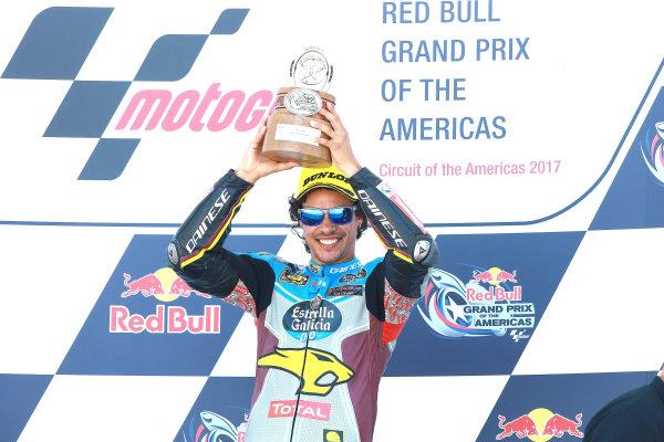 2017 Moto2 Championship - Round 3 Circuit of the Americas, Austin, Texas, USA Sunday 23 April 2017 Podium: race winner Franco Morbidelli, Marc VDS World Copyright: Gold and Goose Photography/LAT Images ref: Digital Image Moto2-Post-500-2910