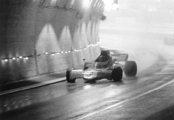 1972 Monaco Grand Prix.Monte Carlo. 14 May 1972.Ronnie Peterson (March 721X-Ford Cosworth) in the tunnel. Ref-4471 #18A.World Copyright - LAST Photographic