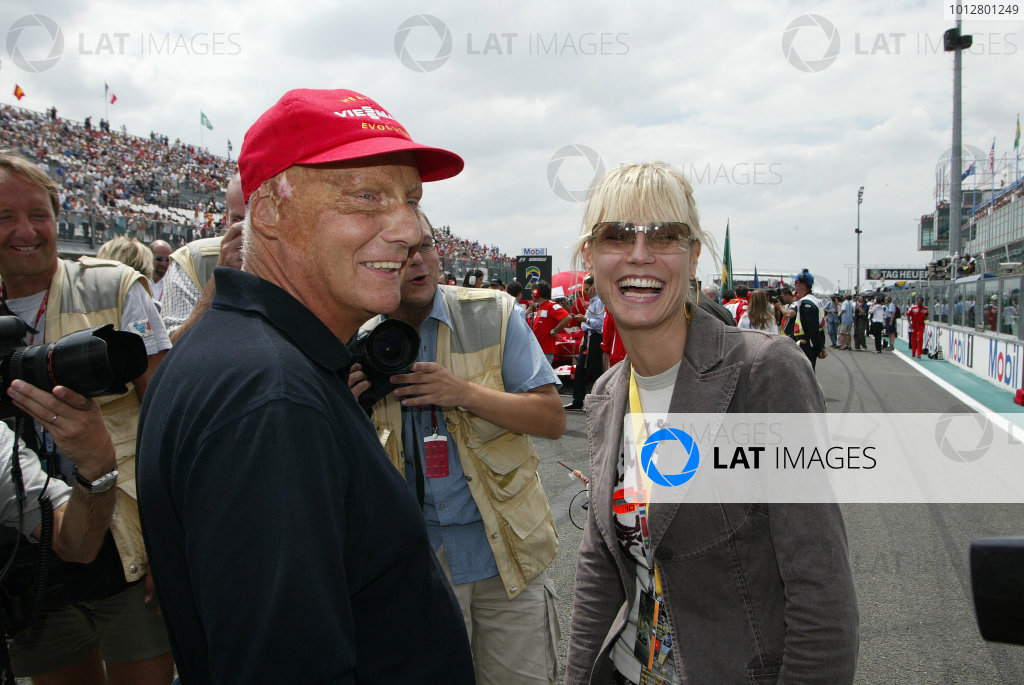 2003 French Grand Prix - Sunday Race,Magny Cours, France. 06th July 2003 Niki Lauda makes a return to the grid, portrait.World Copyright: Steve Etherington/LAT Photographic ref: Digital Image Only
