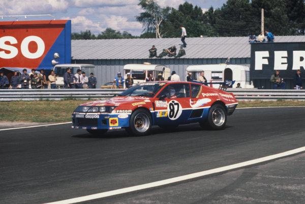 "Le Mans, France. 11th - 12th June 1977 Bernard Decure/Jean-Luc ThŽrier/""Cochise"" (Alpine-Renault A310), retired, action. World Copyright: LAT PhotographicRef: 77LM29."