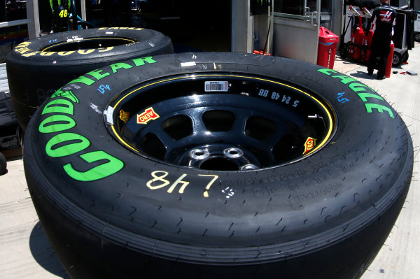 Monster Energy NASCAR Cup Series Monster Energy NASCAR All-Star Race Charlotte Motor Speedway, Concord, NC USA Friday 19 May 2017 Goodyear Eagle Racing Tire World Copyright: Matthew T. Thacker LAT Images ref: Digital Image 17CLT1mt1218