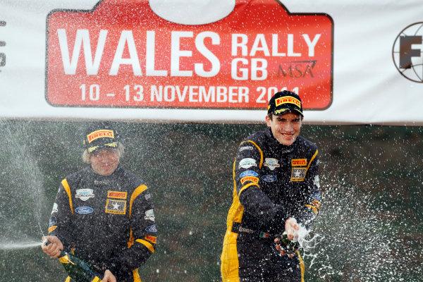 Round 13 Wales Rally GB. 10th-13th November 2011.Craig Breen, Gareth Roberts, Ford Fiesta R2, Portrait, podium finish.Worldwide Copyright: McKlein/LAT