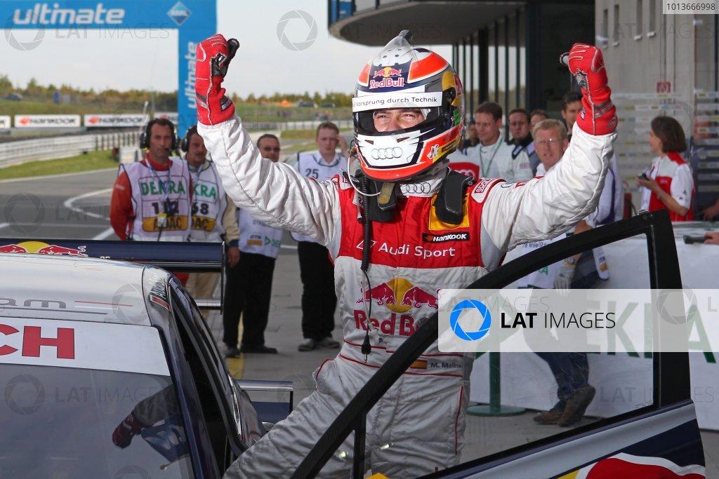 Pole position for Miguel Molina (ESP), Audi Sport Team Abt Junior, Red Bull Audi A4 DTM (2008), the first Spaniard to do so in DTM.DTM, Rd8, Oschersleben, Germany, 16-18 September 2011 Ref: Digital Image dne1117se511