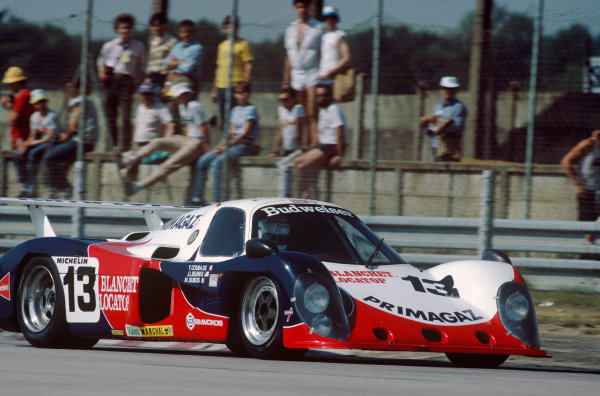 Le Mans, France. 16th -17th  June 1984.Yves Courage/Michel Dubois/John Jellinek (Cougar C02 Ford), retired, action. World Copyright: LAT Photographic.Ref:  84LM27
