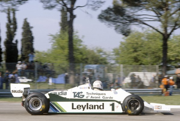1981 San Marino Grand Prix.Imola, Italy. 1-3 May 1981.Alan Jones (Williams FW07C-Ford Cosworth), 12th position.World Copyright: LAT PhotographicRef: 35mm transparency 81SM08