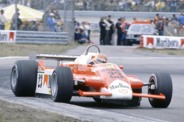 1980 Dutch Grand Prix.Zandvoort, Holland. 29-31 August 1980.Bruno Giacomelli (Alfa Romeo 179B), retired.World Copyright: LAT PhotographicRef: 35mm transparency 80HOL16