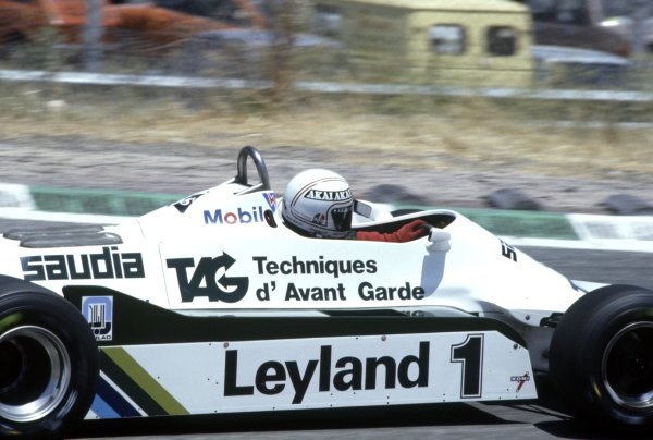 1981 Spanish Grand Prix.Jarama, Spain. 19-21 June 1981.Alan Jones (Williams FW07C-Ford Cosworth), 7th position.World Copyright: LAT PhotographicRef: 35mm transparency 81ESP26