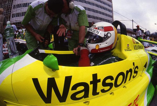 Tom Kristensen (DEN) Ralt-Volkswagen RT36 at Macau Formula Three Grand Prix, Macau, Hong Kong, 24 November 1991.