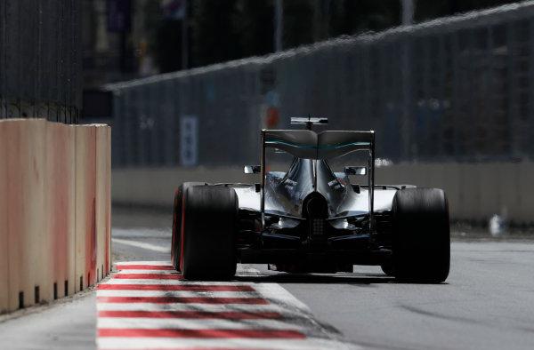 Baku City Circuit, Baku, Azerbaijan. Saturday 18 June 2016. Nico Rosberg, Mercedes F1 W07 Hybrid. World Copyright: Glenn Dunbar/LAT Photographic ref: Digital Image _V2I9597