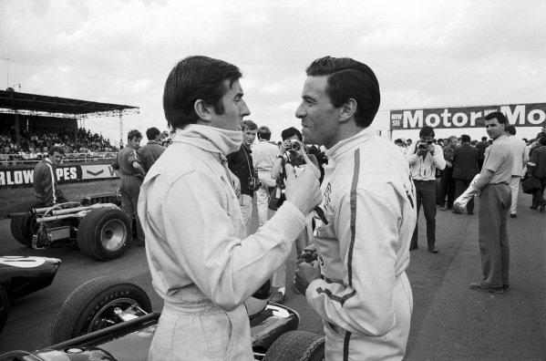 Jackie Stewart and Jim Clark.