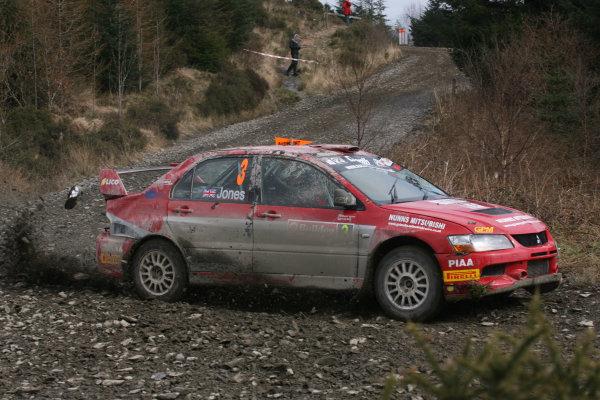 Bulldog Rally, Wales 28th March,Stuart Jones/Andy Bull - Mitsubishi Lancer Evo 9World Copyright: Ebrey/LAT Photographic