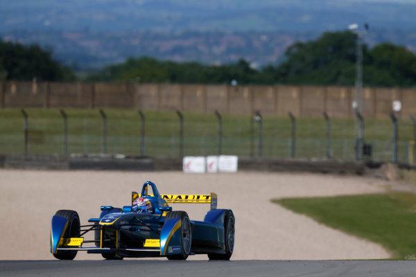 FIA Formula E Test Day, Donington Park, UK.  9th - 10th July 2014.  Sebastien Buemi, e.dams. Photo: Sam Bloxham/FIA Formula E ref: Digital Image _SBL1260