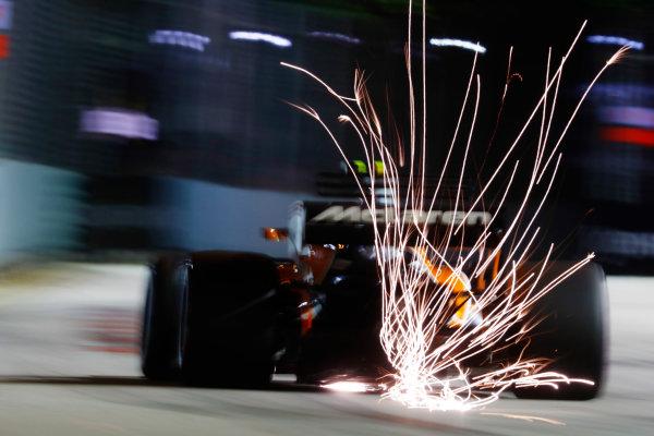 Marina Bay Circuit, Marina Bay, Singapore. Saturday 16 September 2017. Stoffel Vandoorne, McLaren MCL32 Honda.  World Copyright: Steven Tee/LAT Images  ref: Digital Image _R3I9943
