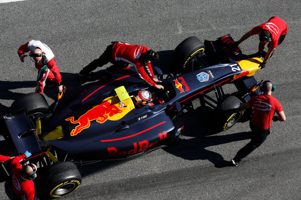 2016 GP2 Series Test 1. Circuit de Catalunya, Barcelona, Spain. Friday 11 March 2016. Pierre Gasly (FRA, PREMA, Racing)  World Copyright: Sam Bloxham/LAT Photographic. ref: Digital Image _R6T9244