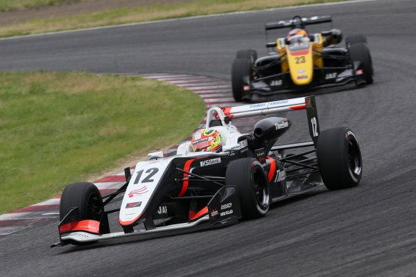 2017 Japanese Formula 3 Championship. Suzuka, Japan. 24th - 25th June 2017. Rd 10 & 11. Rd11 2nd position Alex Palou ( #12 ThreeBond Racing with DRAGO CORSE ) action World Copyright: Masahide Kamio / LAT Images. Ref: 2017JF3_Rd11_07