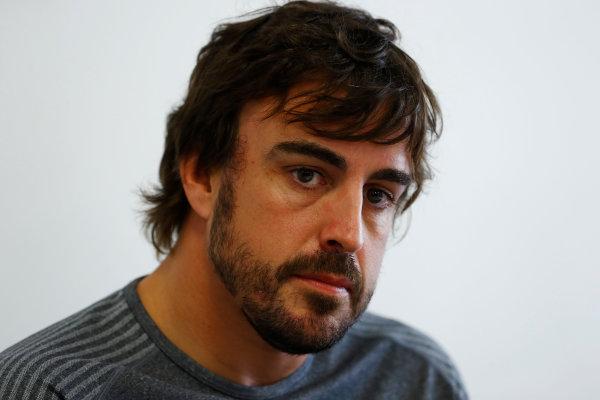 Baku City Circuit, Baku, Azerbaijan. Thursday 22 June 2017. Fernando Alonso, McLaren.  World Copyright: Steven Tee/LAT Images ref: Digital Image _R3I1320