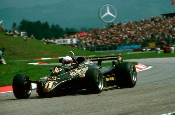 Osterreichring, Austria.13-15 August 1982.Elio de Angelis (Lotus 91 Ford) 1st position.Ref-82 AUT 07.World Copyright - LAT Photographic