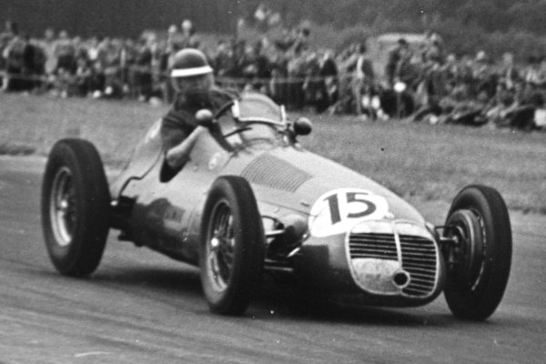 1951 British Grand Prix.Silverstone, Great Britain. 14 July 1951.David Murray (Maserati 4CLT/48). Ref-C29874.World Copyright - LAT Photographic