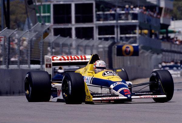 1988 Australian Grand Prix.Adelaide, Australia.11-13 November 1988.Nigel Mansell (Williams FW12 Judd).Ref-88 AUS 33.World Copyright - LAT Photographic