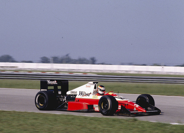 1989 Brazilian Grand Prix.Jacarepagua, Rio de Janeiro, Brazil.24-26 March 1989.Bernd Schneider (Zakspeed 891 Yamaha).Ref-89 BRA 30.World Copyright - LAT Photographic