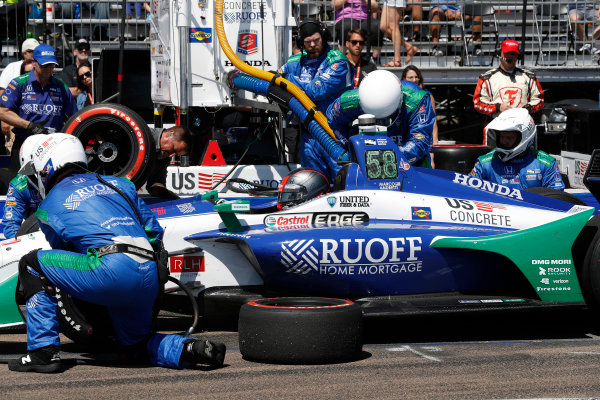2018 Verizon IndyCar Series - Firestone Grand Prix of St. Petersburg St. Petersburg, FL USA Sunday 11 March 2018 Marco Andretti, Herta - Andretti Autosport Honda, pit stop World Copyright: Michael L. Levitt LAT Images ref: Digital Image _33I8382