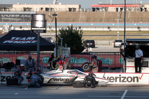 Will Power, Team Penske Chevrolet, in the pitlane Copyright: Joe Skibinski - IMS Photo