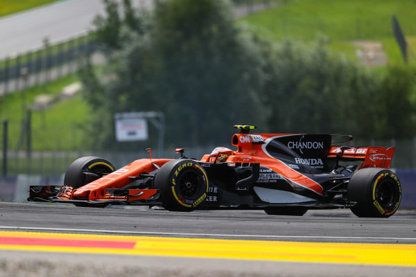 Stoffel Vandoorne (BEL) McLaren MCL32 at Formula One World Championship, Rd9, Austrian Grand Prix, Qualifying, Spielberg, Austria, Saturday 8 July 2017.