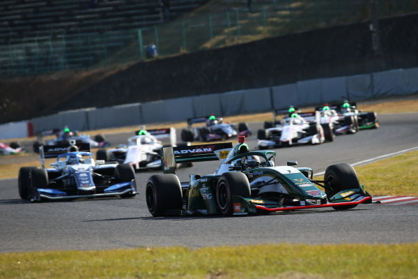 Nick Cassidy (Vantelin Team TOM's), Dallara SF Toyota, leads at the start of the round six. Photo by Yukio Yoshimi
