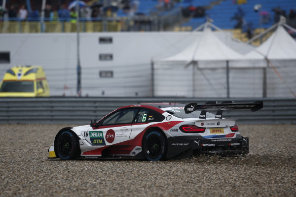 Timo Glock, BMW Team RMG, BMW M4 DTM in the gravel.