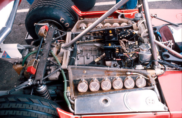 1976 Swedish Grand Prix.Anderstorp, Sweden.11-13 June 1976.The Ferrari 312B flat 12 engine on the back of the Ferrari 312T2 chassis.Ref-76 SWE 10.World Copyright - LAT Photographic