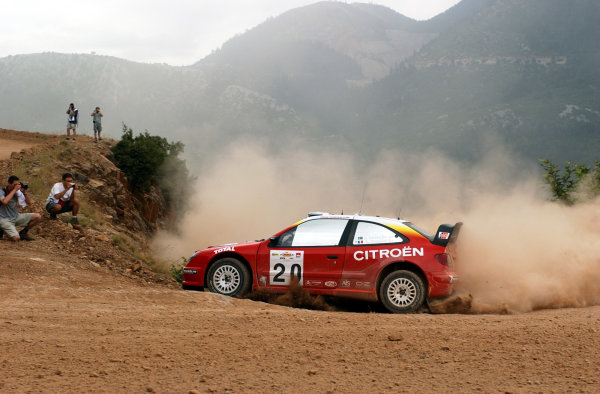 World Rally Championship, Acropolis Rally, June 13-16, 2002.Thomas Radstrom during shakedown.Photo: Ralph Hardwick/LAT