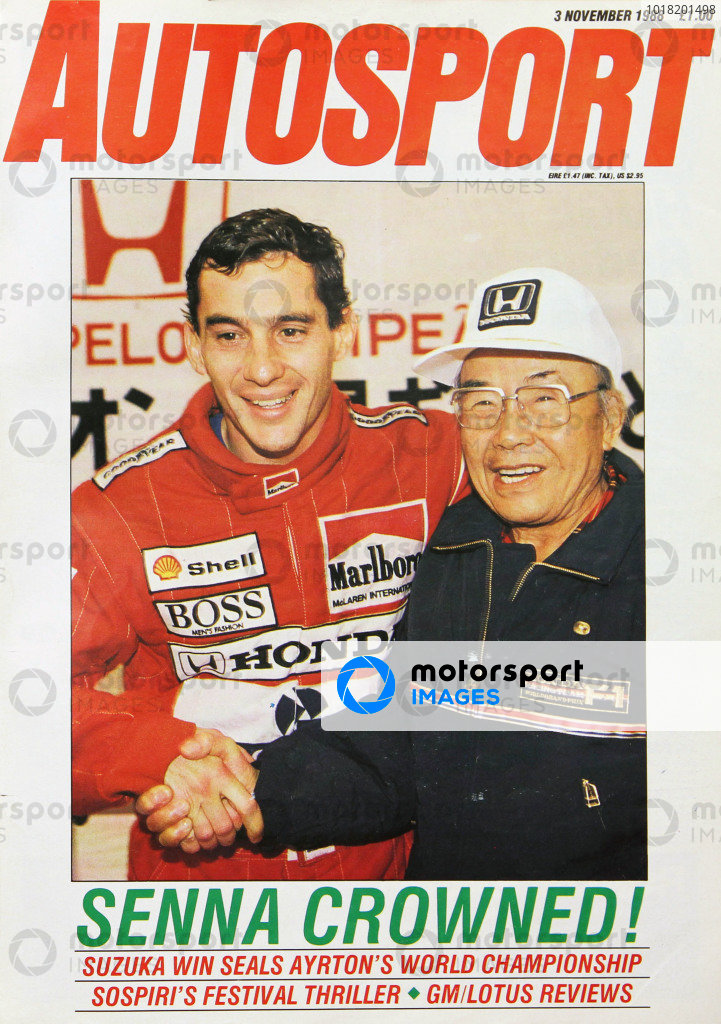 Cover of Autosport magazine, 3rd November 1988