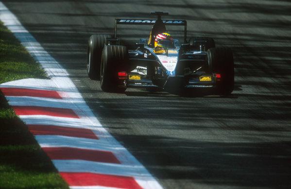 2001 Italian Grand Prix.Monza, Italy.14-16 September 2001.Alex Yoong (Minardi PS01 European). He spun off into the gravel after a very tough Grand Prix debut.Ref-01 ITA 14.World Copyright - LAT Photographic