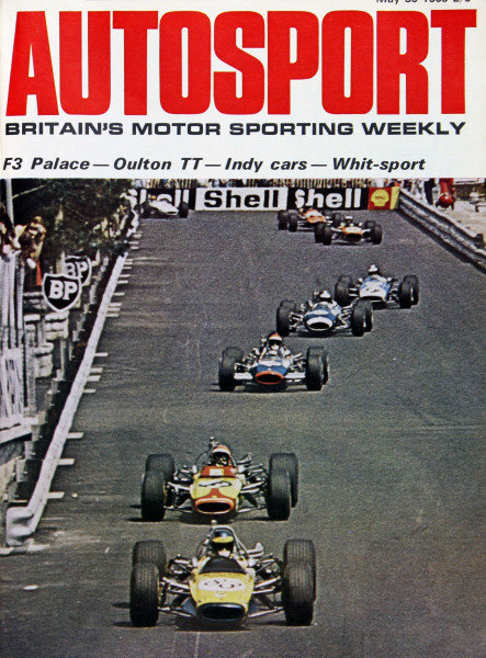 Cover of Autosport magazine, 30th May 1969