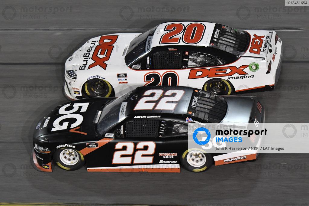 #20: Harrison Burton, Joe Gibbs Racing, Toyota Supra DEX Imaging #22: Austin Cindric, Team Penske, Ford Mustang Verizon 5G