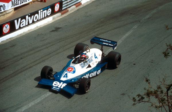 1978 Monaco Grand Prix.Monte Carlo, Monaco.5-7 May 1978.Patrick Depailler (Tyrrell 008 Ford) 1st position. This was his maiden Grand Prix win.Ref-78 MON 02.World Copyright - LAT Photographic