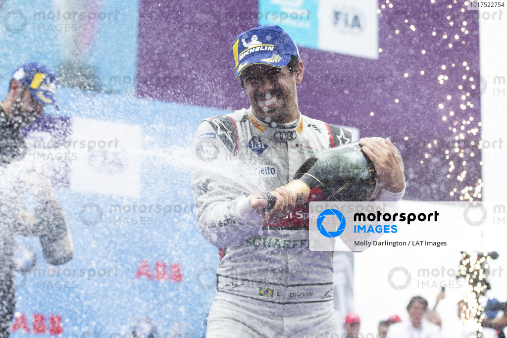 Lucas Di Grassi (BRA), Audi Sport ABT Schaeffler, 1st position, celebrates on the podium