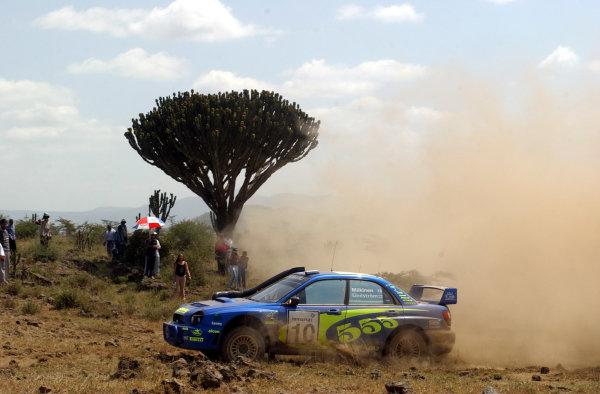 2002 World Rally Championship.Safari Rally, Nairobi Kenya, July 11-14th.Tommi Makinen during shakedown.Photo: Ralph Hardwick/LAT