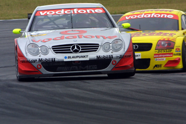 2002 DTM Championship Lausitzring, Germany. 12th - 14th July 2002.Bernd Schneider (Mercedes-Benz CLK), 1st position.World Copyright: Andre Irlmeier/LAT Photographic