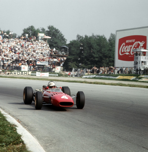 Monza, Italy. 2-4 September 1966.Michael Parkes (Ferrari 312) 2nd position.Ref-3/2354A.World Copyright - LAT Photographic