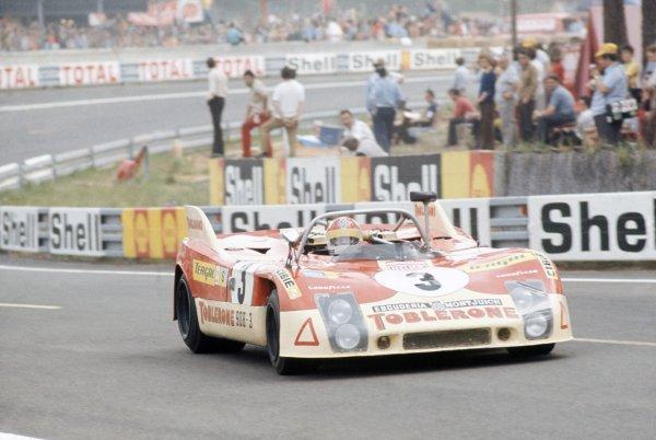 1973 Le Mans 24 hours.Le Mans, France. 9-10 June 1973.Bernard Cheneviere/Juan Fernandez/Francisco Torredemer (Porsche 908/03), 5th position.World Copyright: LAT PhotographicRef: 35mm transparency 73LM06